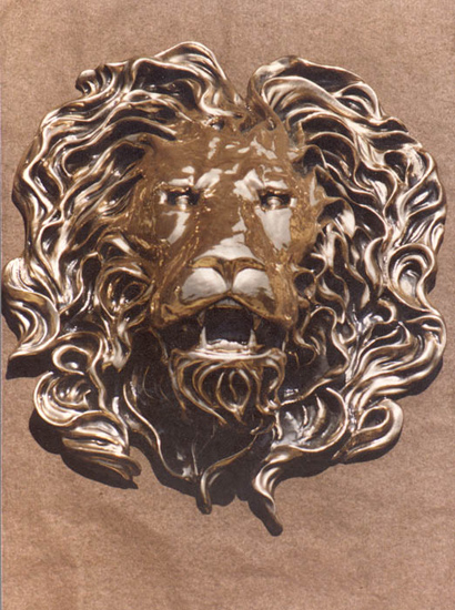 LION HEAD 23 in. x 20 in.